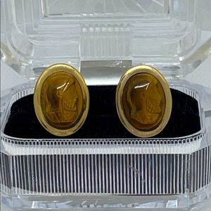 Gold Filled Cameo Cuff Links